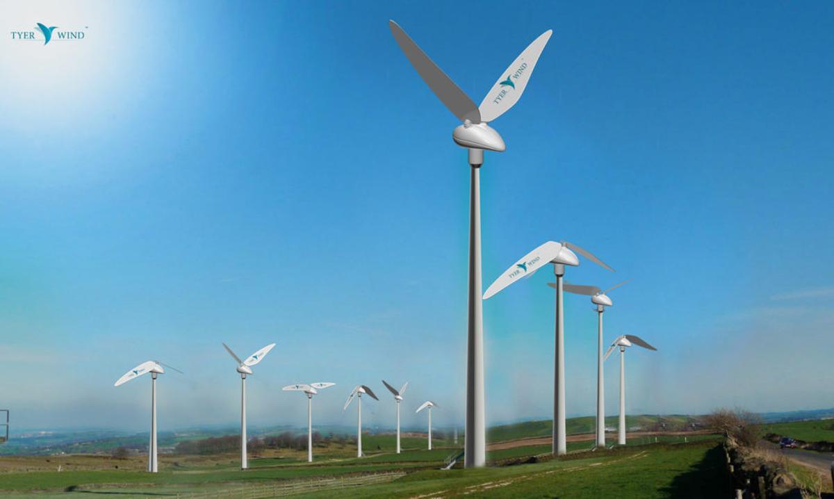 Tyer Wind turbine mimics the figure 8 flappingmotion of hummingbirds
