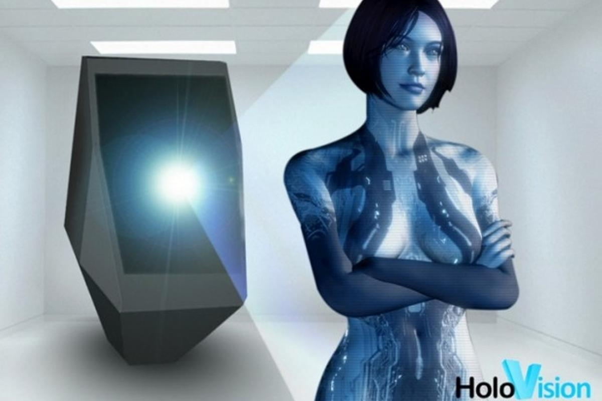 The Holovision projector is designed to produce a life-size image of a person