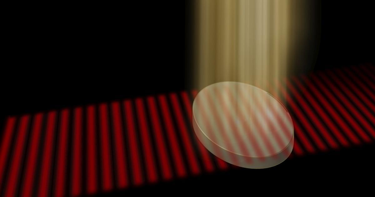 Light wave technology cloaks opaque materials