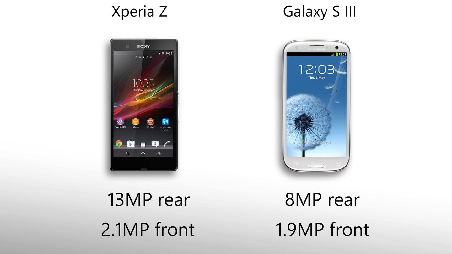 The Xperia Z shoots 13MP shots, and HDR videos