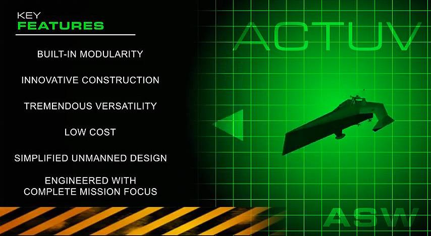 The ACTUV will be built out of modular parts, which will make it cheaper and easier to repair when necessary