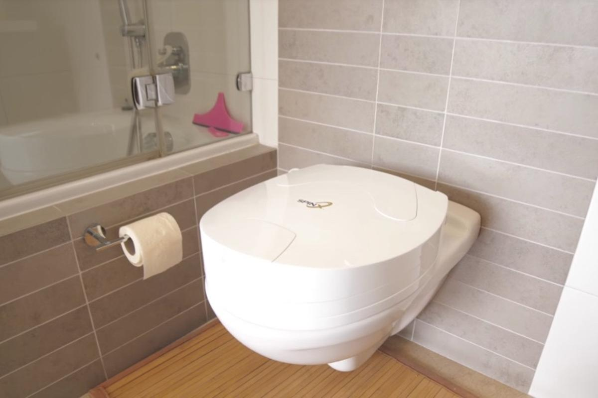 The SpinX is claimed to fit most toilets