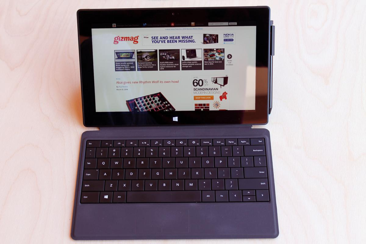 Gizmag reviews the Surface Pro 2,