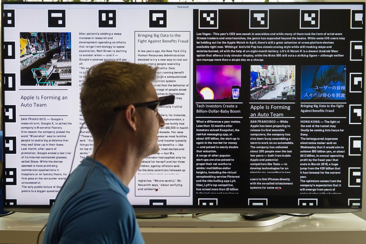 The technology utilizes existing eye-tracking glasses (Photo: Oliver Dietze)