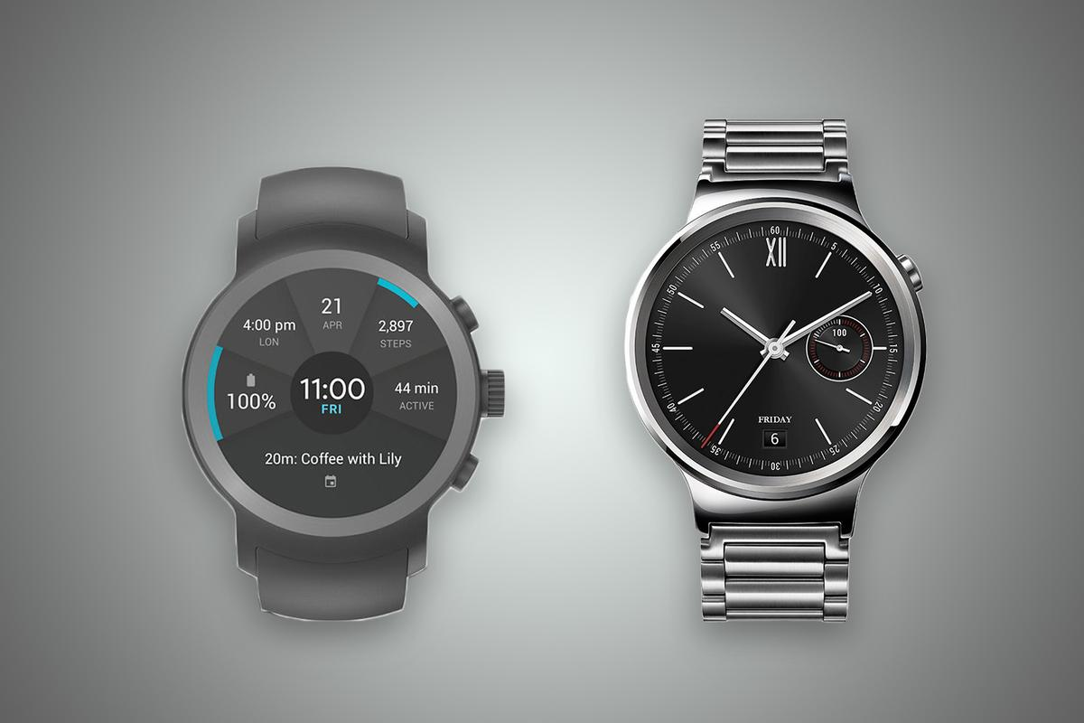 New Atlas compares the features and specs of the LG Watch Sport (left) and Huawei Watch