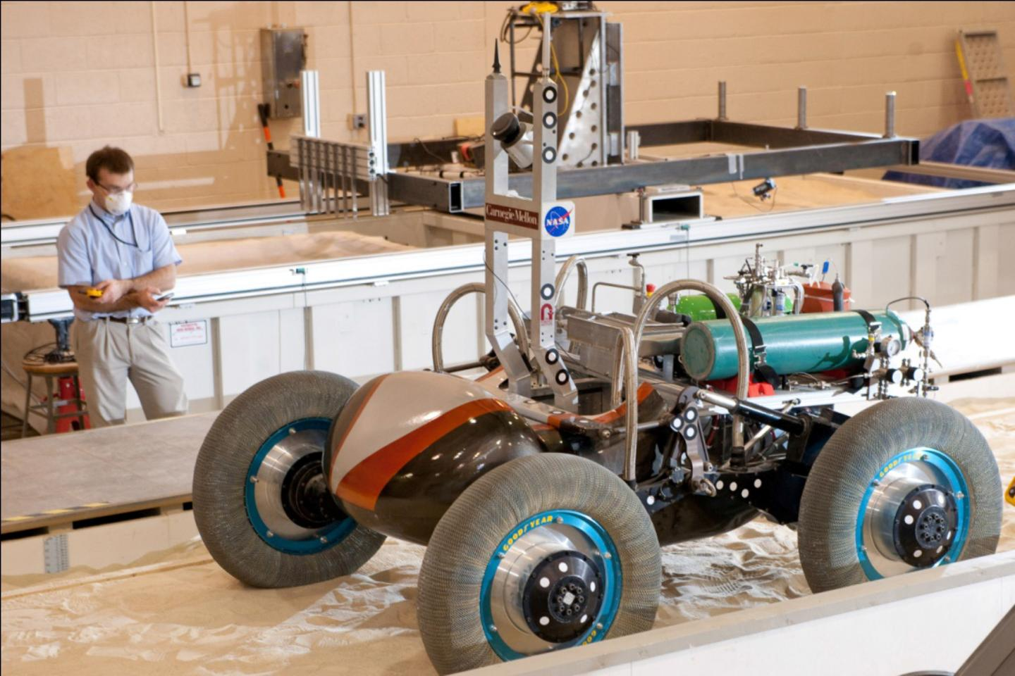 The proposals are intended to produce new power sources, such as the fuel cell used in this Scarab lunar rover (Photo: Carnegie Mellon University/NASA)
