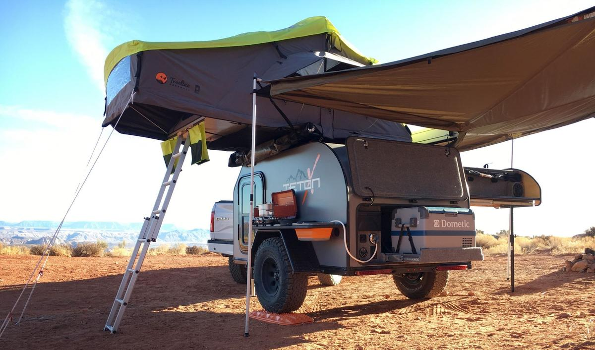 The TetonX Off-Axis is a rugged off-road trailer with some nice off-grid amenities and luxuries