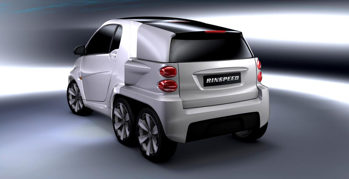"Rinspeed's modular ""Dock Go"" concept comprises a vehicular backpack that docks to the rear of an electric vehicle"