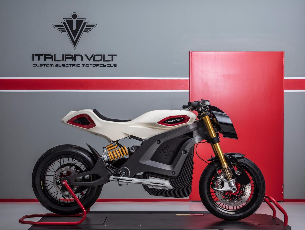 The Italian Volt Lacama is a custom electric motorcycle destined for riders that can afford to stand out