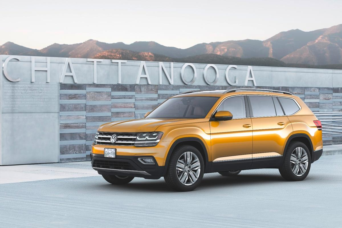 The 2018 Volkswagen Atlas is a very large vehicle, by VW standards, sitting above their Tiguan and Tuareg crossover models as a full-sized, seven-passenger SUV