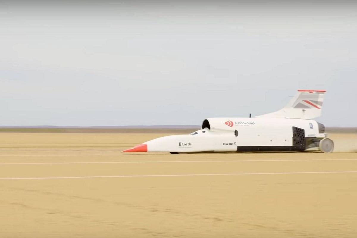 Run Profile 5 saw the Bloodhound supersonic car roar to 461 mph