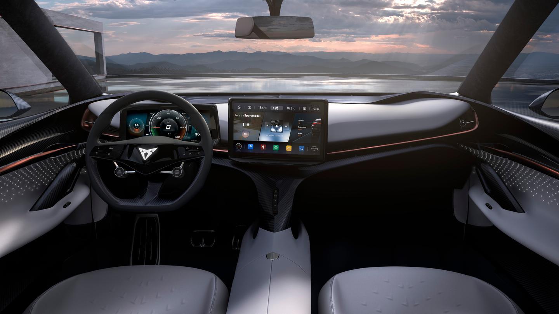 The Tavascan's modern-looking cockpit