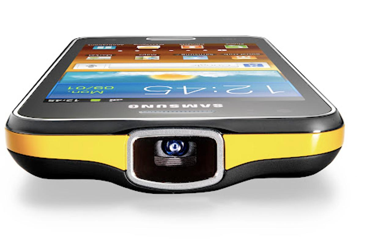 The Galaxy Beam is a smartphone with its own built-in pico projector