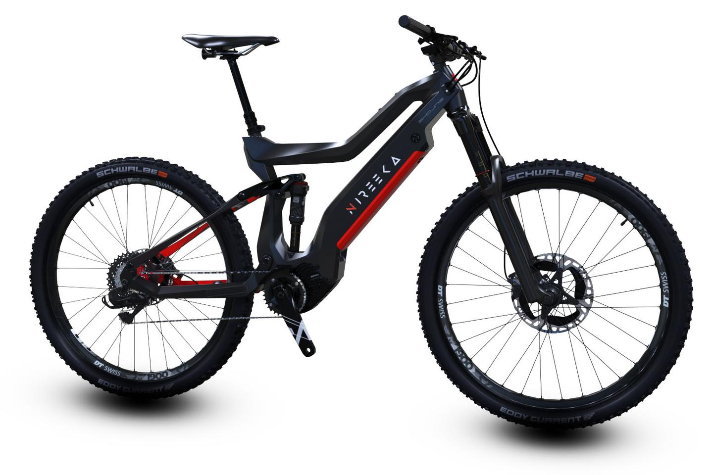 The Nireeka Nyx becomes the flagship of the range, a high-spec carbon-framed enduro off-road ebike