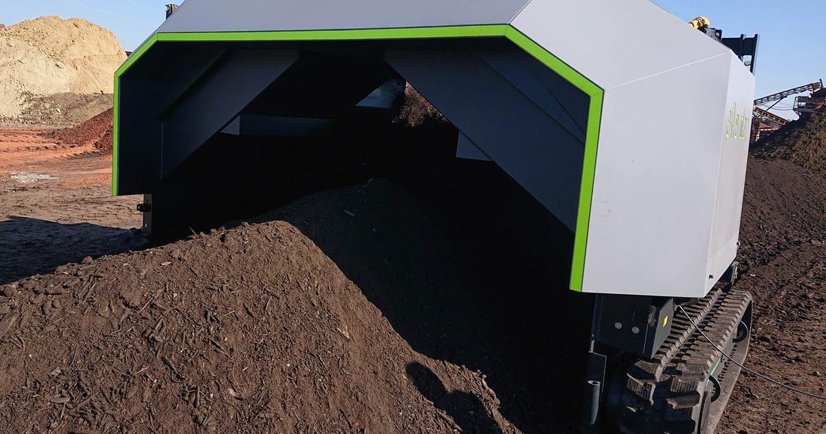 Autonomous compost turner designed to take over a smelly job