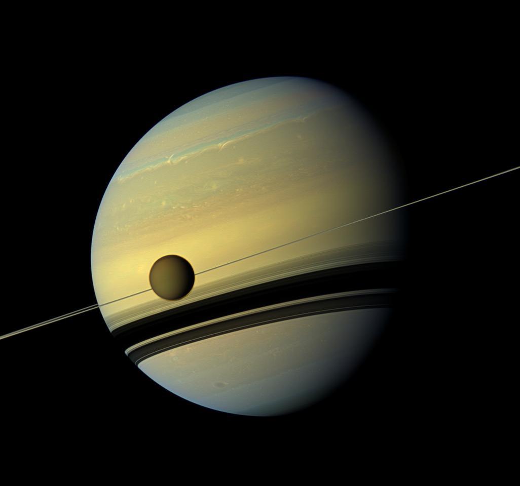 Saturn and Titan (Image: NASA/JPL-Caltech/SSI)