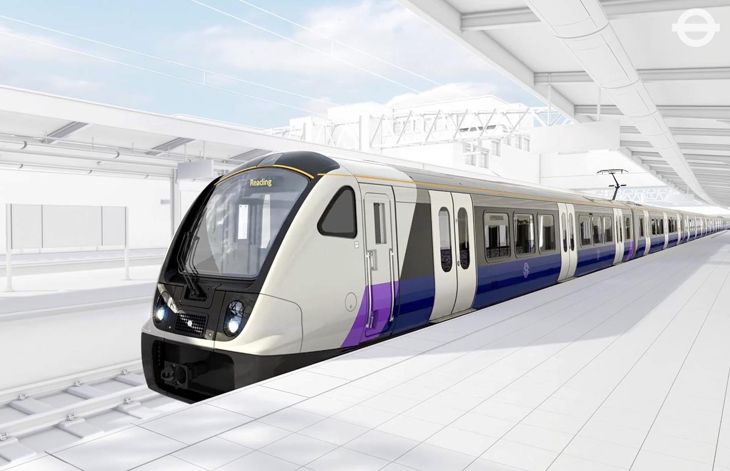 The new Crossrail trains will be 200-m (656-ft) long and will accommodate up to 1,500 passengers