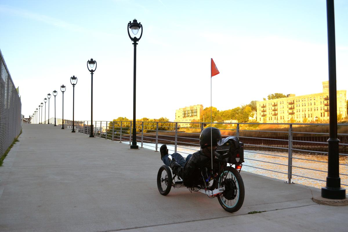 The Odyssey electric trike from Milwaukee-based inventors Dustin Herte and Ryan Bass