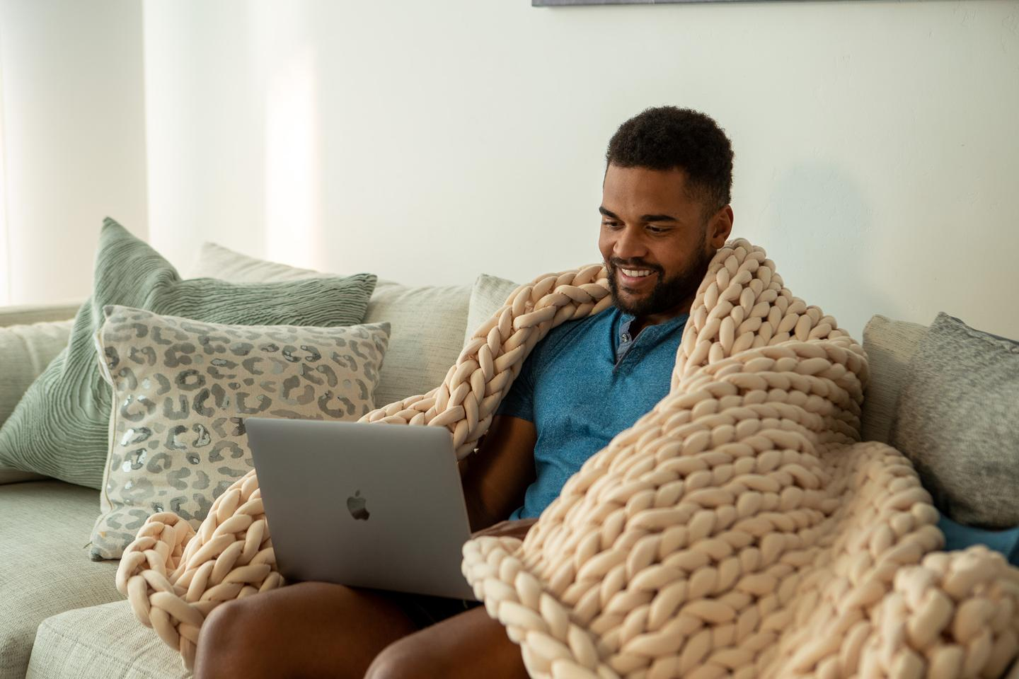 The Nuzzie Knit is great for anyone needing help sleeping, relaxing or dealing with anxiety