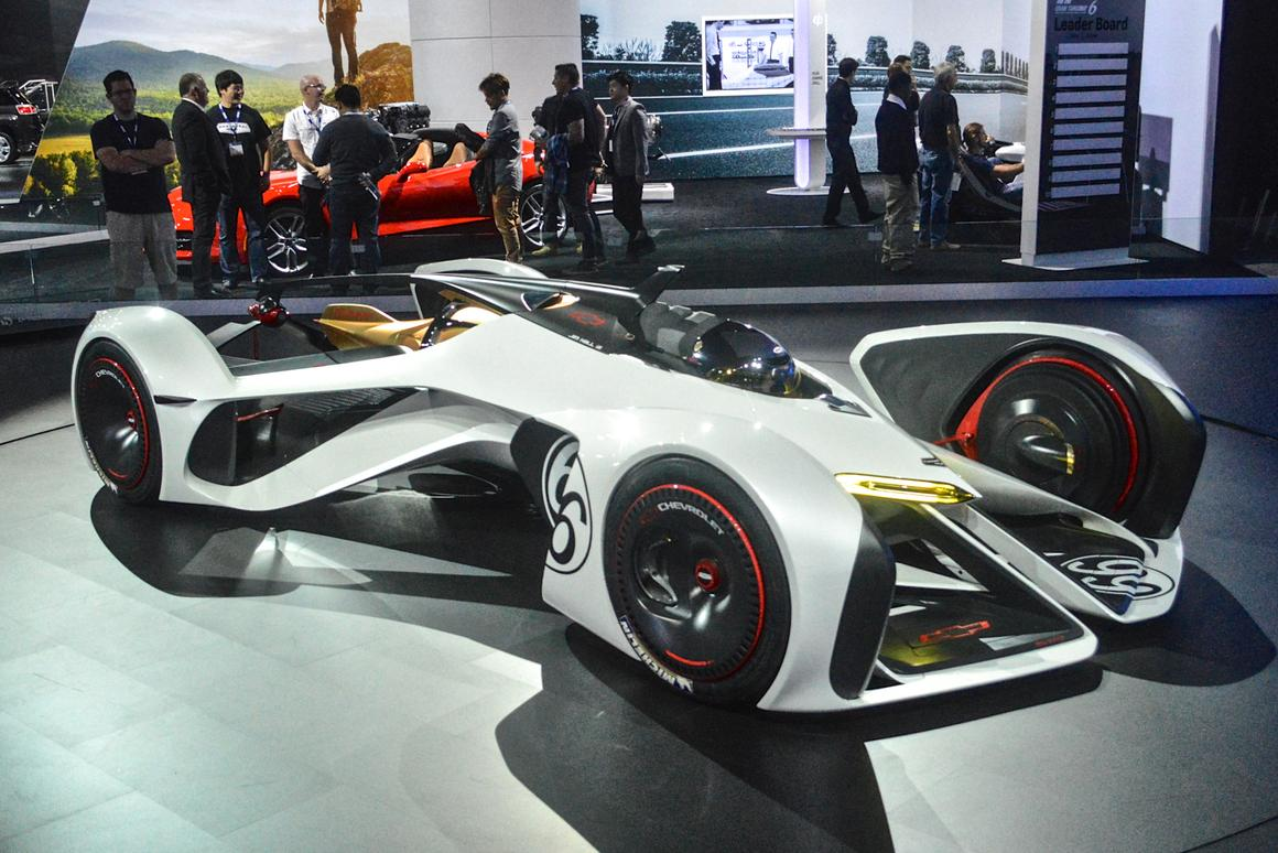 """Chevy describes the 2X as a """"revolutionary interpretation of the ultimate race car"""" (Photo: C.C. Weiss/Gizmag)"""