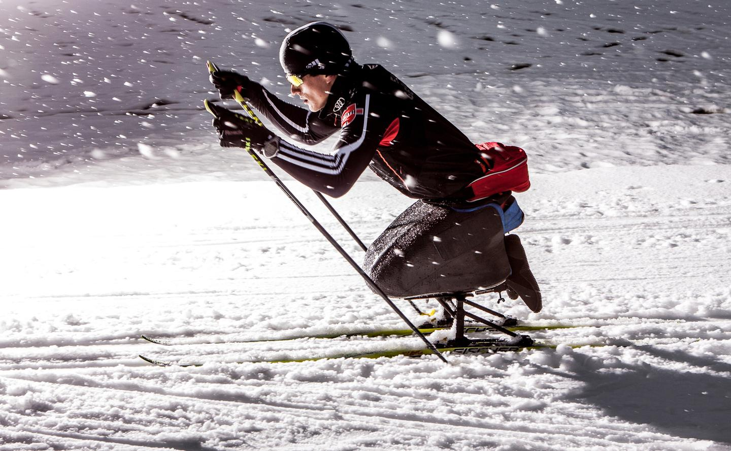 Scientists are using new technology to develop ski sledges optimized for each individual athlete (Photo: Ruben Elstner, MikroTribologie Centrum µTC)