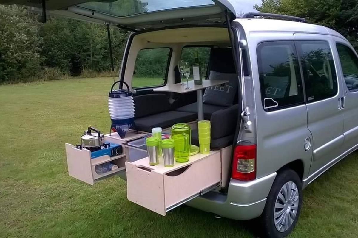 This mini-campervan with Campal ForTwo kit was sold through Microcampers UK