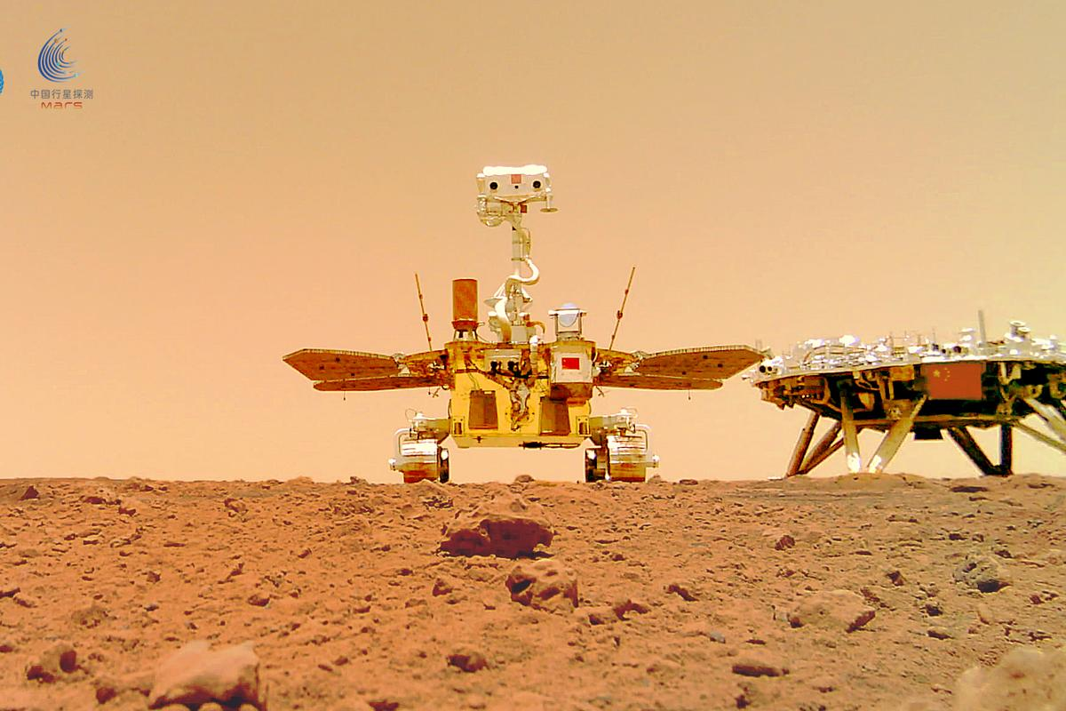 China's Zhurong rover makes its first tracks across Mars