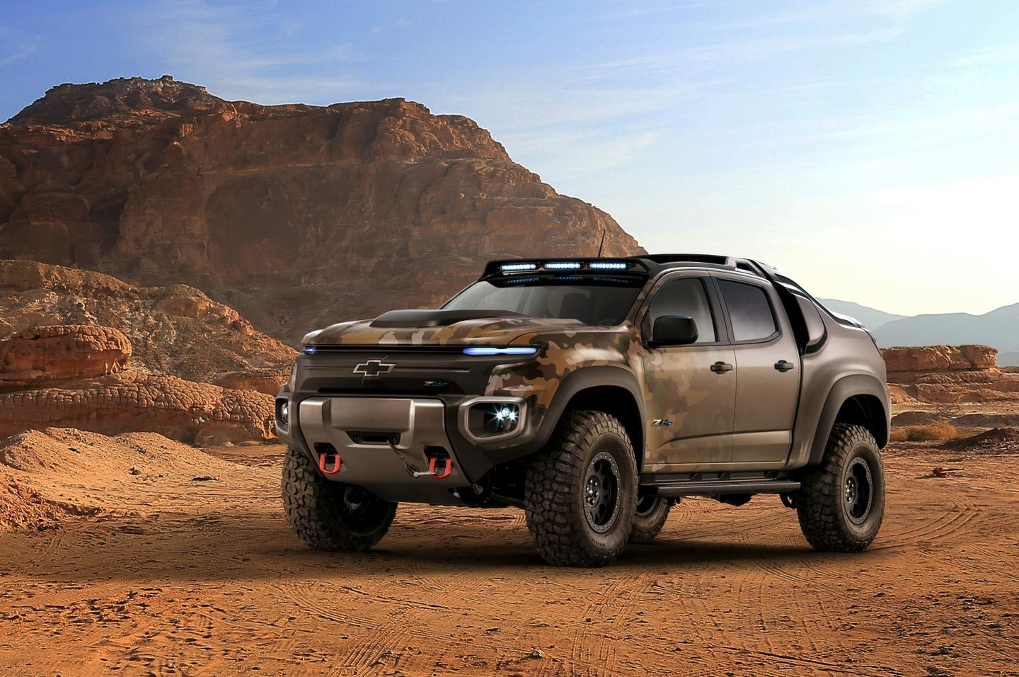 The Chevy Colorado ZH2 is a more extreme, off-road-ready pickup truck