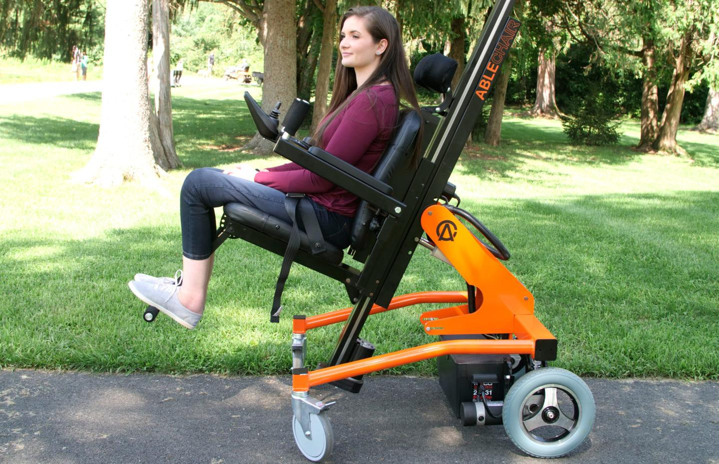 The AbleChair can power along at up to 4 mph