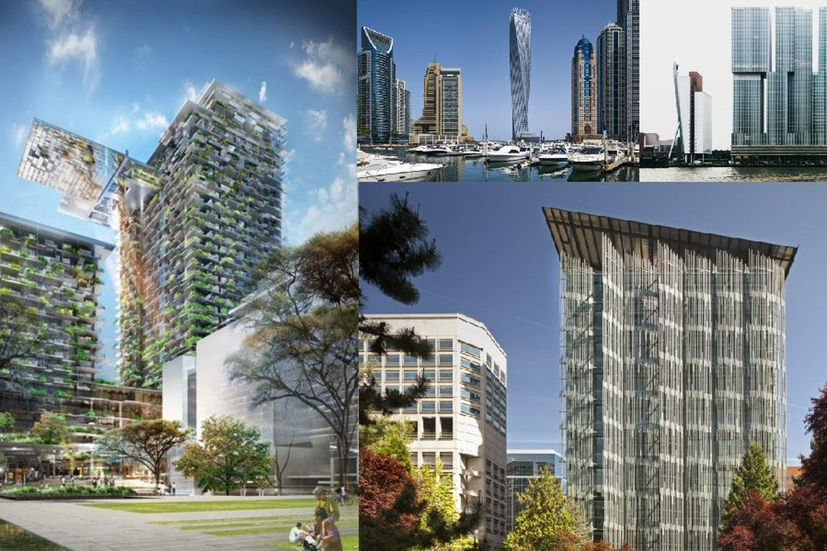 The four CTBUH Best Tall Buildings of 2014 winners