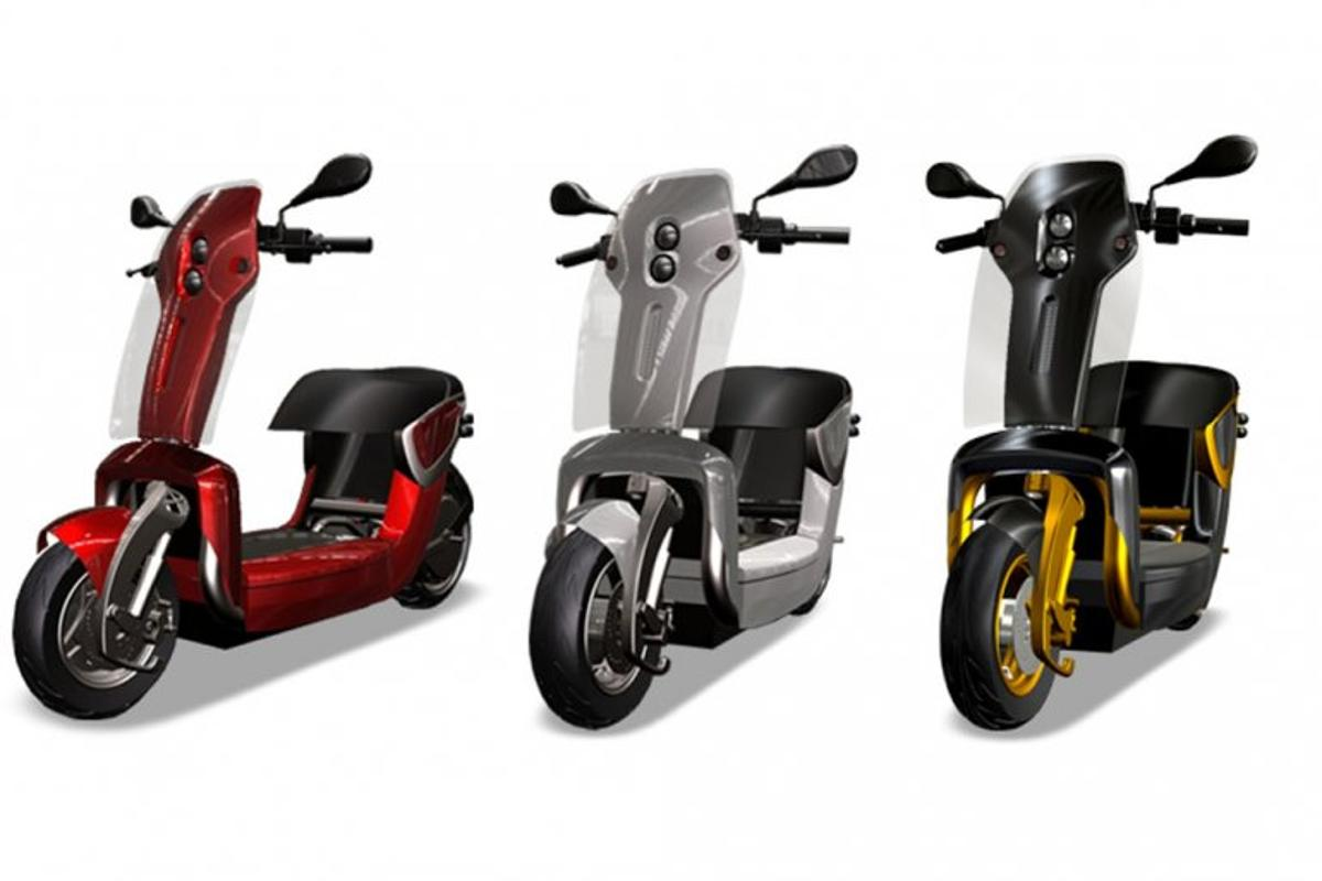 The XO2 folding scooter range - 125, 50 Urban and 50 Sport