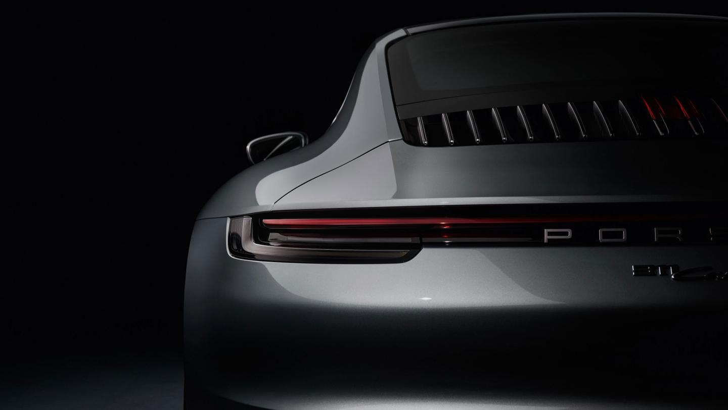 The new Porsche 911, from the rear
