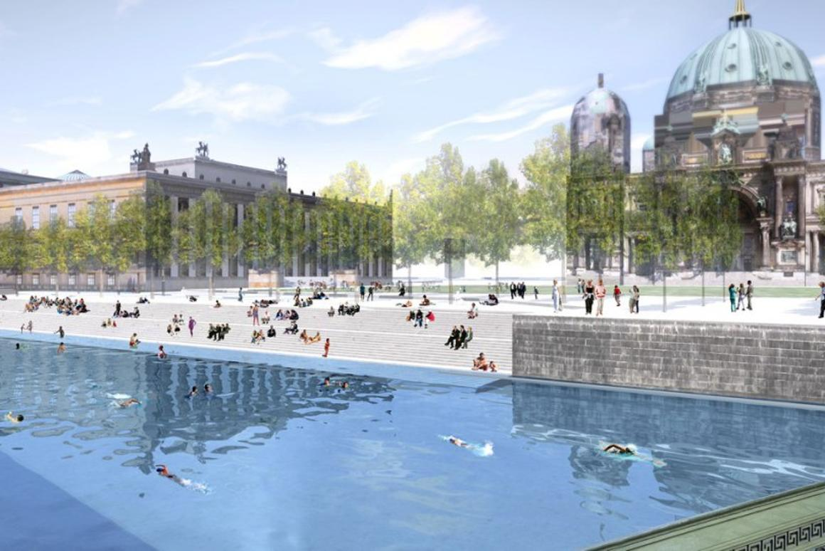 The Flussbad conversion will create the world's longest swimming pool amidst the historic center of Berlin (image: united:realities)