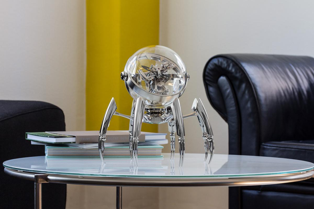 Swiss design firm MB&F and manufacturer L'Epée 1839 have created a marine-themed, high-end table clock called the Octopod