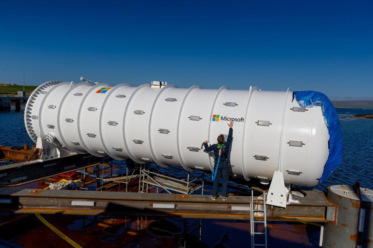 Microsoft has submerged a data center in the ocean off the coast of Scotland