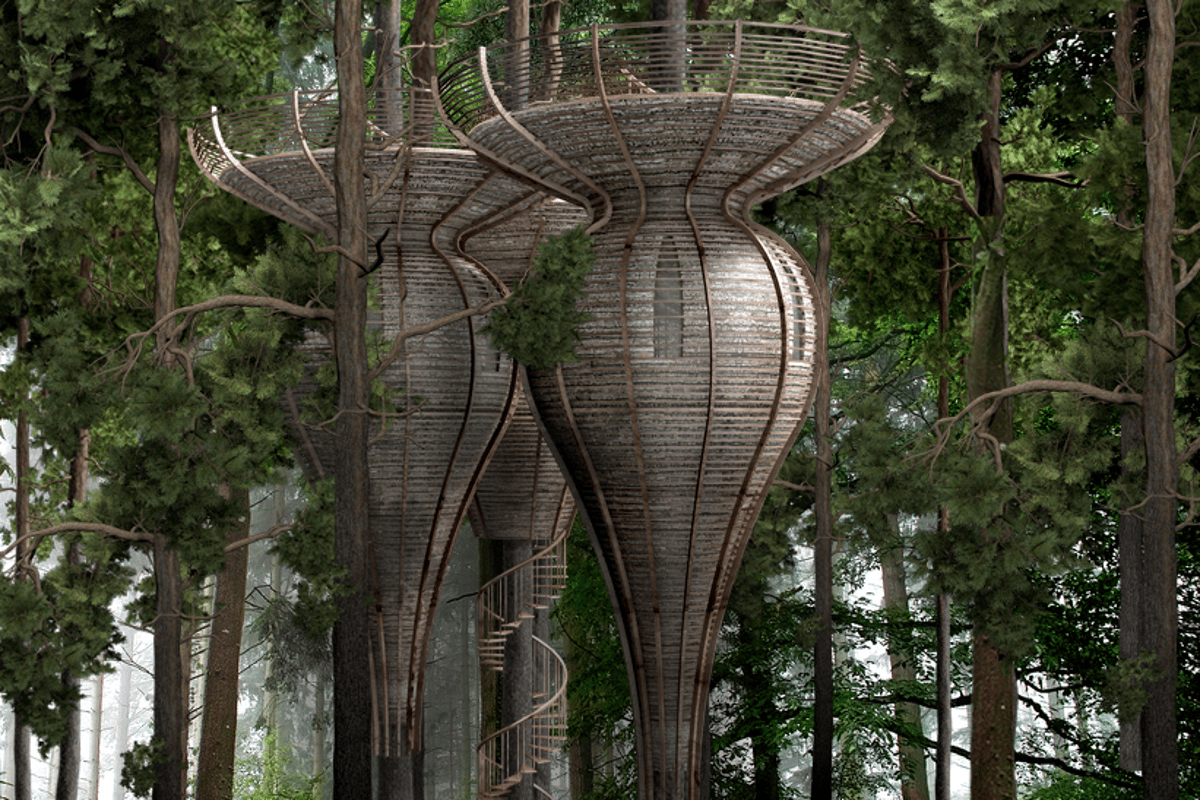 Roost and Inhabit are both designed to blend fully into their natural surroundings