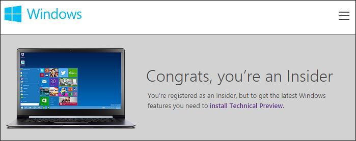Sign up for the Windows Insider Program