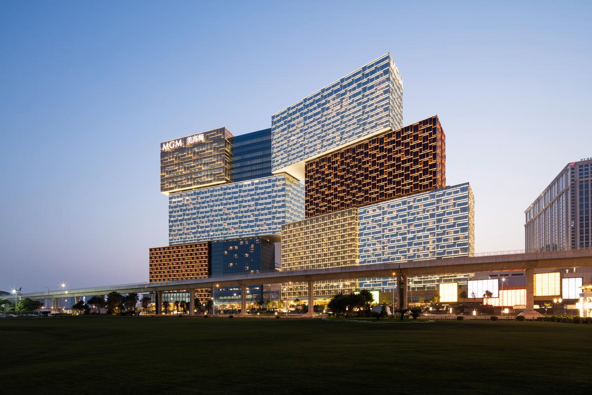 The MGM Cotai, by Kohn Pedersen Fox Associates, was recently declared the world's best new skyscraper by information specialist Emporis during its annual Skyscraper Award