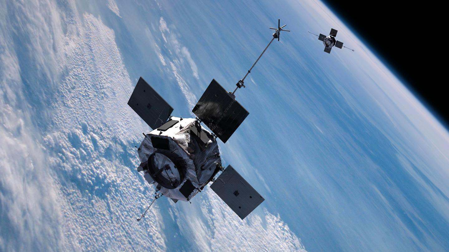 The two RBSP leaving Earth (Image: JHU/APL)