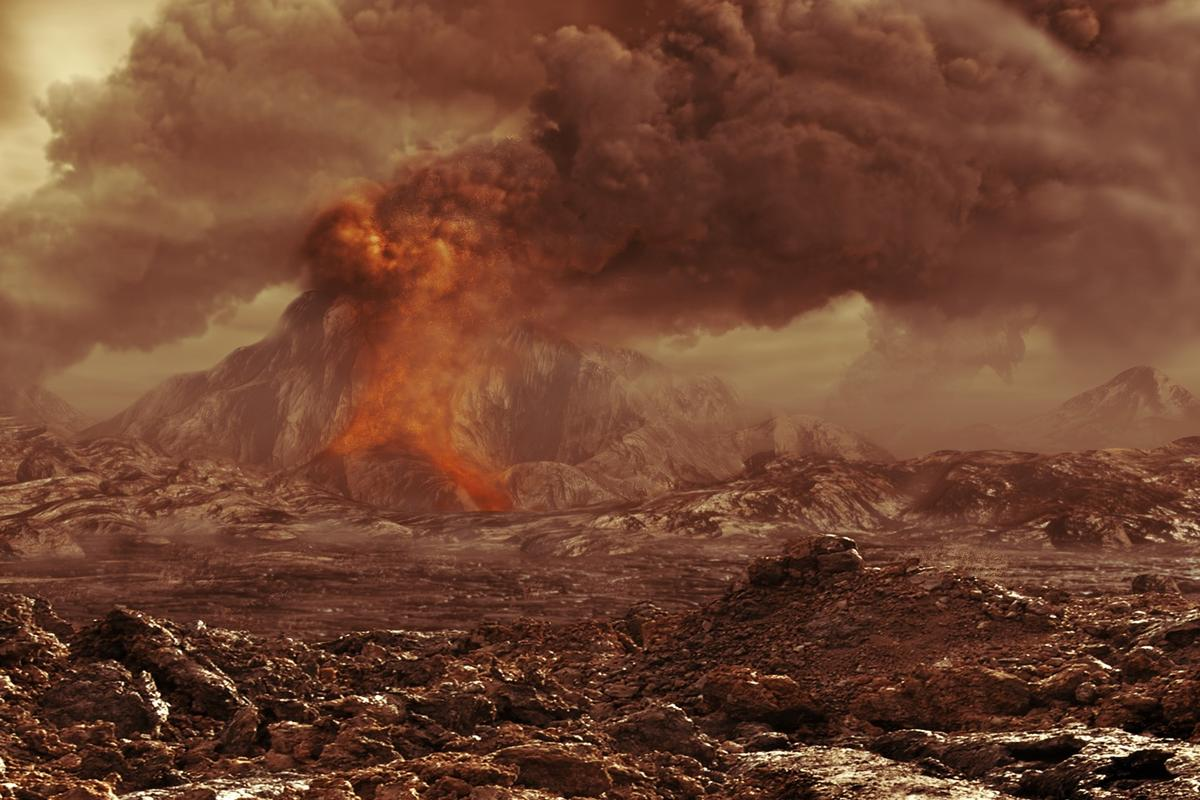ESA's Venus Express has found the best evidence yet that our planetary neighbor experiences active volcanism, as depicted in this artist's impression