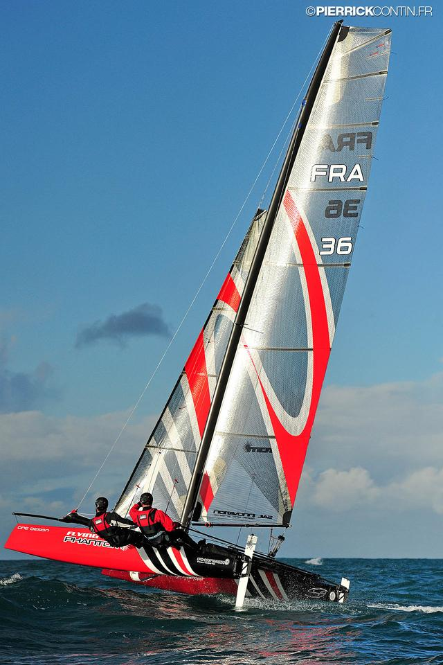 The Flying Phantom hydrofoiling catamaran