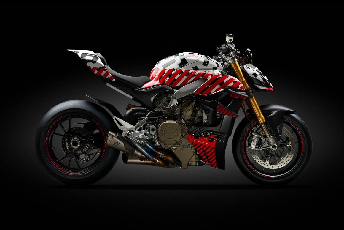 The prototype Ducati Streetfighter V4 offers a first view of the 2020 production model that will be introduced in November