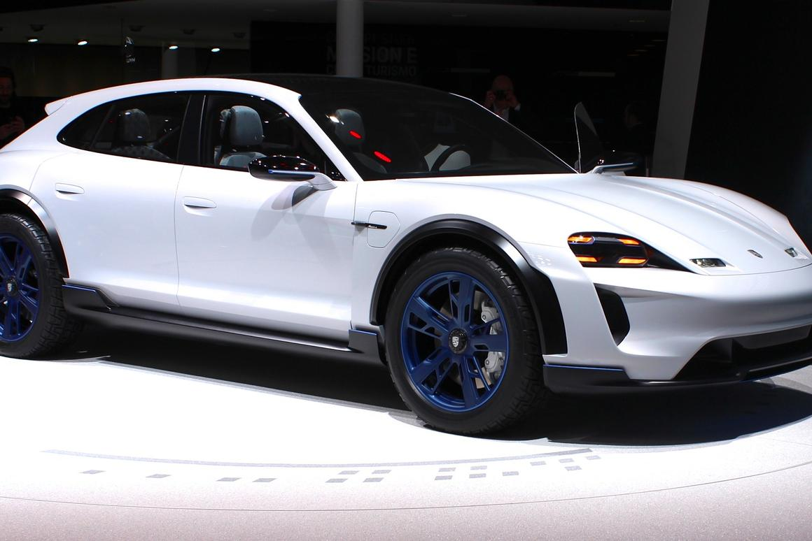 Porsche holds the world premiere of the Mission E Cross Turismo at the 2018 Geneva Motor Show