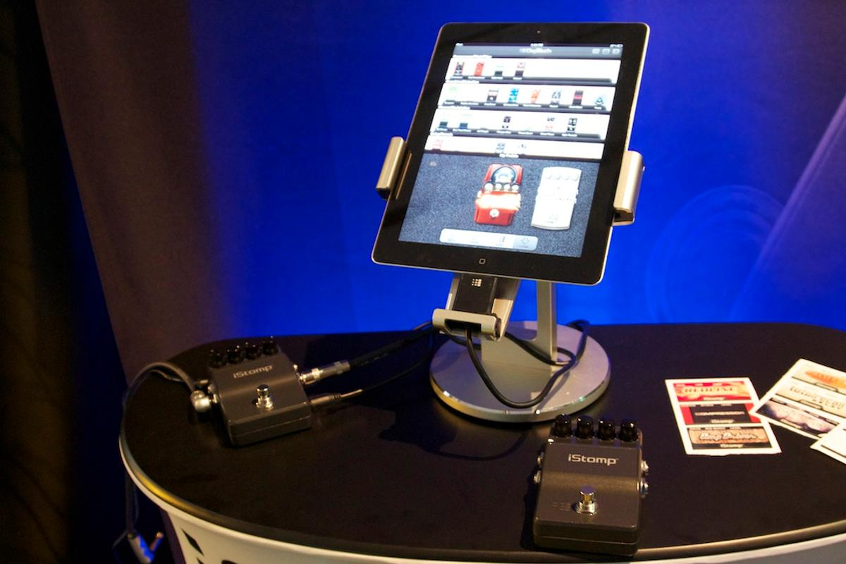 The iStomp from DigiTech allows users to change the pedal's guitar effects using an iOS device