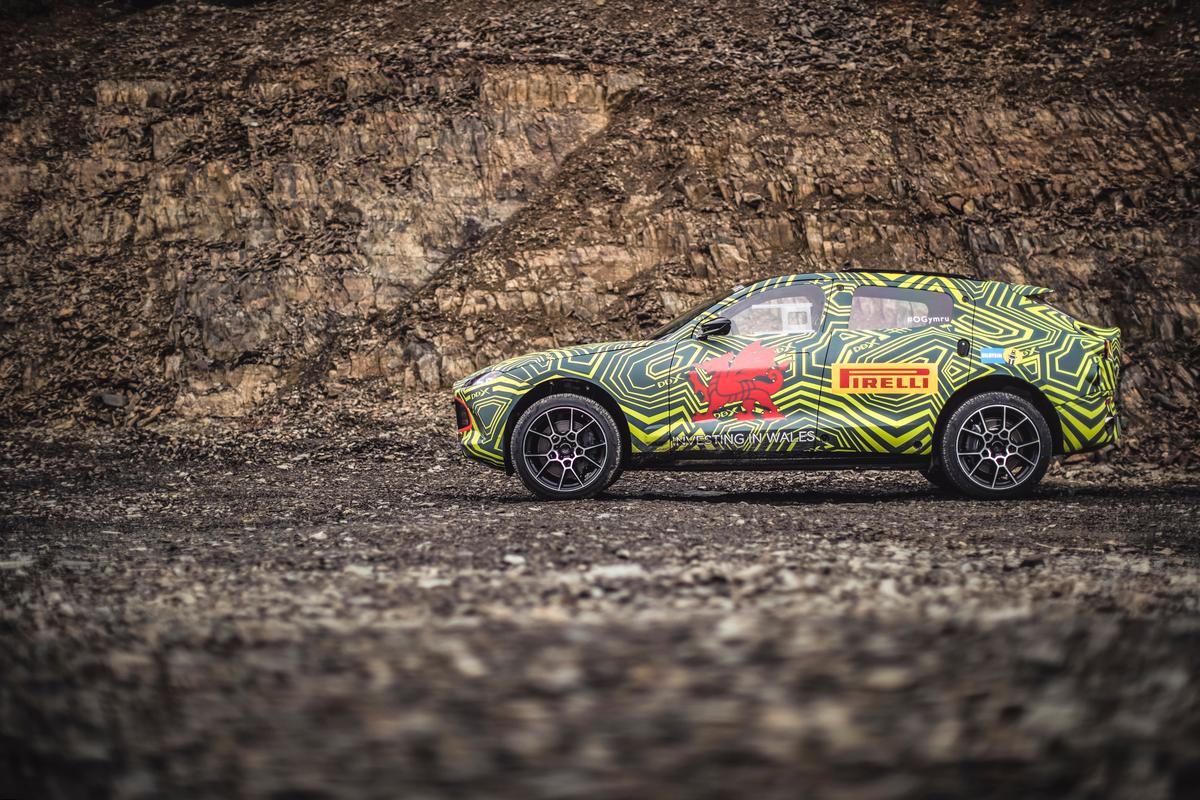 Aston Martin DBX Prototype: in testing in Wales