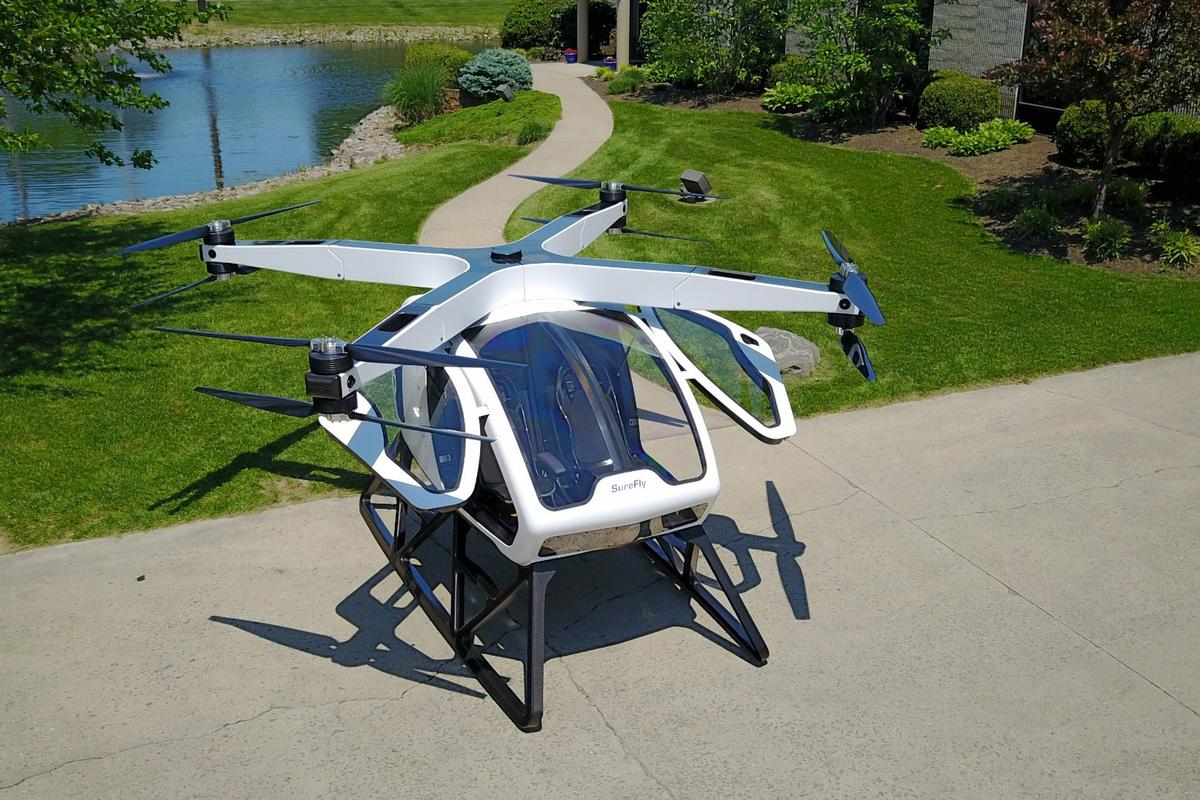 The Workhorse SureFly – soon taking humans into the sky?