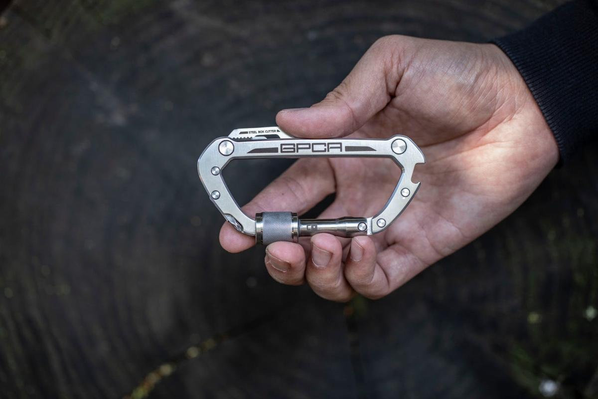 The GPCA Carabiner features a 3-inch opening, along with some extra features