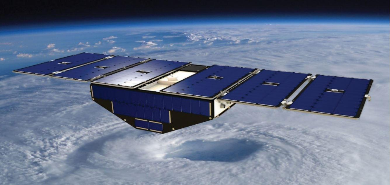 A CYGNSS satellite fully deployed