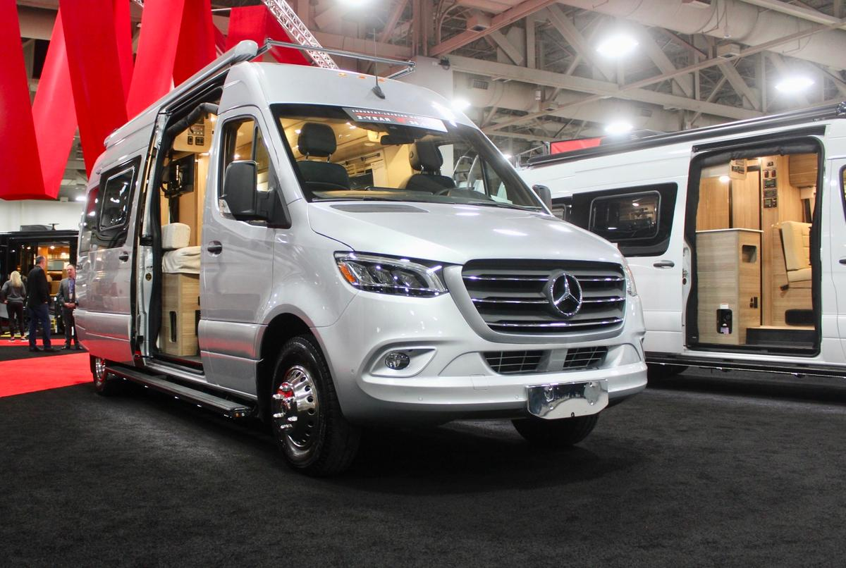 """The all-new Winnebago Boldt debutsat RVX, where it was also a Judge's Choice in the """"City Escape""""category of the Reveal competition"""