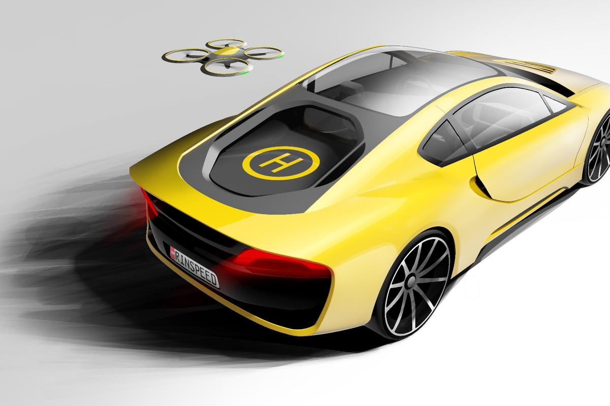 The Etos includes a built-in drone and landing pad